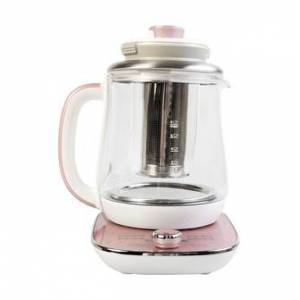 AROMA Multi Function Glass Electric Water Kettle, Healthy Tea Kettle, Delay Timer, 1.5L, AWK-701, Rose Gold  - Size: 1