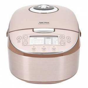 AROMA Digital Turbo Convection Multi-Function Rice Cooker Food Steamer 16 Cups Cooked Rice MTC-8008 (with Delay Timer)