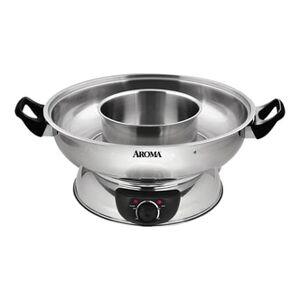 AROMA 4-Qt Electric Shabu Hot Pot ASP-600 (2 Year Mfgr Warranty)