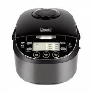 AROMA Multi-Function Digital Display Rice Cooker, 12 Cup Cooked Rice, Steamer, Cake Maker, Slow Cooker, ARC-6106AB, Black  - Size: 1