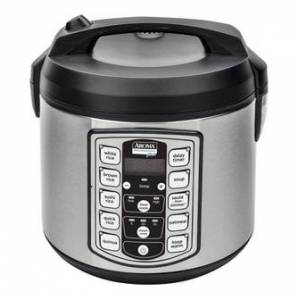 AROMA 20-Cup Digital Display Rice Cooker Slow Cooker and Food Steamer ARC-5000SB (5 Year Warranty)  - Size: 1