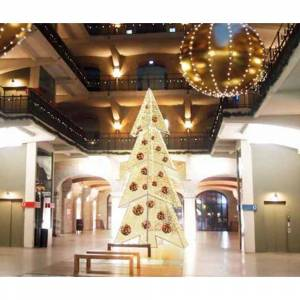Northlight 252 in. Pre-Lit Giant Commercial Grade LED Waterloo Christmas Tree with Warm White Lights