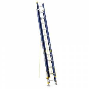 WERNER 24 ft. Fiberglass D-Rung Equalizer Extension Ladder with 300 lb. Load Capacity Type IA Duty Rating