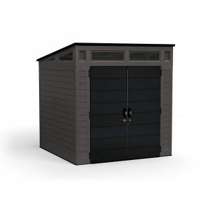 Suncast Modernist 7 ft. 2.5 in. x 7 ft. 3.5 in. x 7 ft. 5.5 in. Resin Storage Shed, Grays