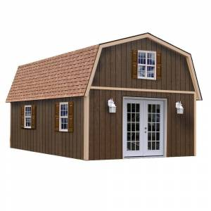 Best Barns Richmond 16 ft. x 28 ft. Wood Storage Building, Clear