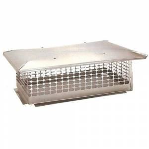 The Forever Cap 13 in. x 45 in. Fixed Stainless Steel Chimney Cap