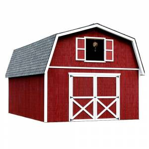 Best Barns Roanoke 16 ft. x 24 ft. Wood Storage Building, Clear