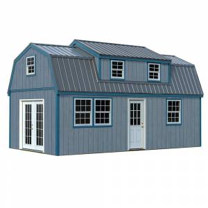 REYNOLDS BUILDING SY Lakewood 12 ft. x 24 ft. Wood Storage Shed Kit without Floor, Clear