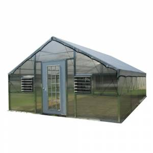 Monticello Wallace Grower's Edition 16 ft. W x 24 ft. D x 11.5 ft. H Educational Greenhouse Kit with 8 ft. H Walls