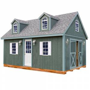 Best Barns Arlington 12 ft. x 20 ft. Wood Storage Shed Kit with Floor Including 4 x 4 Runners, Clear