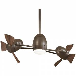 Minka-Aire Cage Free Gyro 37 in. Integrated LED Oil Rubbed Bronze Ceiling Fan with Light