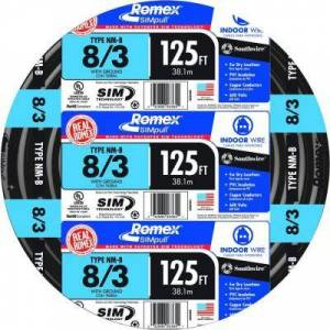 Southwire 125 ft. 8/3 Stranded Romex SIMpull CU NM-B W/G Wire (3-Pack)