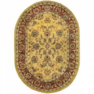 Safavieh Classic Gold/Red 8 ft. x 10 ft. Oval Area Rug