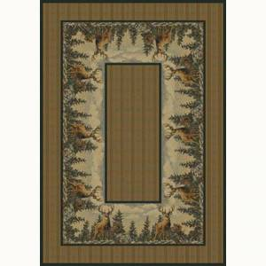 United Weavers Standing Proud Beige 8 ft. x 11 ft. Contemporary Lodge Area Rug