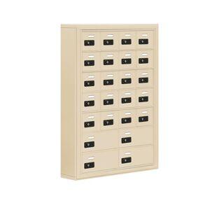 Salsbury Industries 19000 Series 30.5 in. W x 42 in. H x 6.25 in. D 20 A/4 B Doors S-Mount Resettable Locks Cell Phone Locker in Sandstone, Brown