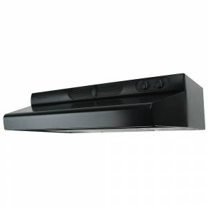 Air King ESDQ Series 36 in. ENERGY STAR Certified Under Cabinet Convertible Range Hood Deluxe Quiet with Light in Black