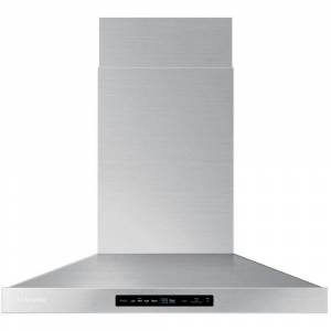 Samsung 30 in. Wall Mount Range Hood Touch Controls, Bluetooth Connected, LED Lighting in Stainless Steel, Silver