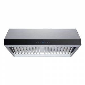 Winflo 30 in. Convertible 480 CFM Under Cabinet Range Hood in Stainless Steel with Baffle Filters and Touch Control, Silver