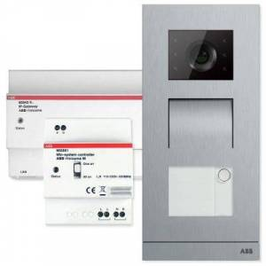 ABB Welcome Door Entry System Single Family Kit Configurable with Smart Phones and Tablets, Silver