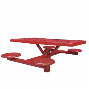 Ultra Play Canteen Inground Mount Commercial Picnic Table, Red
