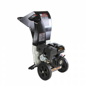 Brush Master 5.25 x 3.75 in. 445cc Self Feed Gas Chipper Shredder with 120V Electric Start, Unique 3-in-1 Discharge, Safety Goggles