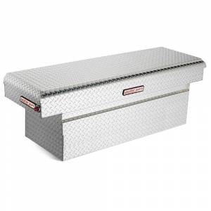 Weather Guard 71.5 Diamond Plate Aluminum Full Size Crossbed Truck Tool Box, Silver