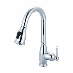Olympia Faucets Accent Single-Handle Pull-Down Sprayer Kitchen Faucet in Polished Chrome