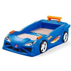Step2 Hot Wheels Twin Plastic Kids Bed, Blue