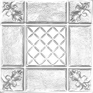 Shanko 2 ft. x 2 ft. Clip Up Tin Ceiling Tile in Brite Chrome (24 sq. ft./case)