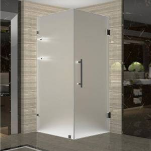 Aston Aquadica GS 36 in. x 36 in. x 72 in. Frameless Square Shower Enclosure with Glass and Shelves in Oil Rubbed Bronze
