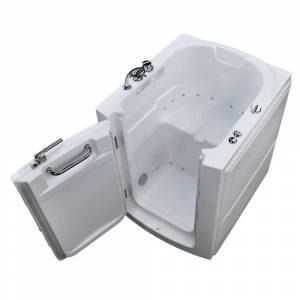 Universal Tubs HD Series 32 in. x 38 in. Left Swinging Door Walk-In Air Tub in White
