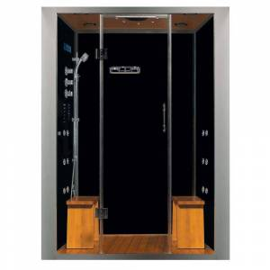 Steam Planet Galaxy 60 in. x 32 in. x 87 in. Steam Shower Enclosure Kit with 4.2kw Generator in Black