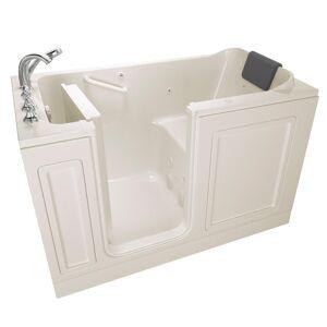 American Standard Acrylic Luxury 60 in. Left Hand Walk-In Whirlpool in Linen