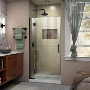 DreamLine Unidoor-X 30 in. x 72 in. Frameless Hinged Shower Door in Satin Black