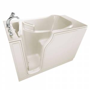 Safety Tubs Gelcoat Entry Series 52 in. x 30 in. Left Hand Walk-In Air Bathtub in Biscuit