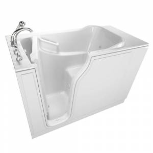 Safety Tubs Gelcoat Entry Series 52 in. Walk-In Air Bath Bathtub in White