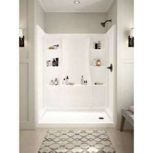 Delta Classic 400 60 in. W x 74 in. H Three Piece Direct-to-Stud Alcove Shower Wall Surround in High Gloss White