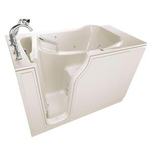American Standard Gelcoat Value Series 52 in. Left Hand Walk-In Whirlpool Bathtub in Linen