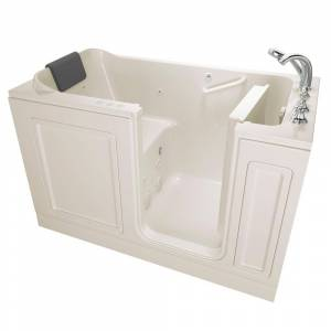 American Standard Acrylic Luxury 60 in. Right Hand Walk-In Whirlpool and Air Bathtub in Linen