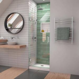 DreamLine Unidoor-LS 24 in. W x 72 in. H Frameless Hinged Shower Door in Chrome