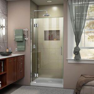 DreamLine Unidoor-X 32 in. x 72 in. Frameless Hinged Shower Door in Chrome
