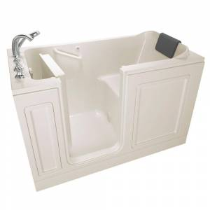 American Standard Acrylic Luxury Series 59.5 in. Left Hand Walk-In Soaking Tub in Linen
