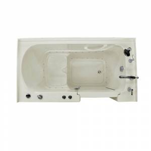 Universal Tubs HD Series 32 in. x 60 in. Right Drain Quick Fill Walk-In Air Tub in Biscuit