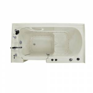 Universal Tubs HD Series 32 in. x 60 in. Left Drain Quick Fill Walk-In Air Tub in Biscuit