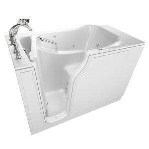 American Standard Gelcoat Value Series 52 in. Left Hand Walk-In Whirlpool Bathtub in White