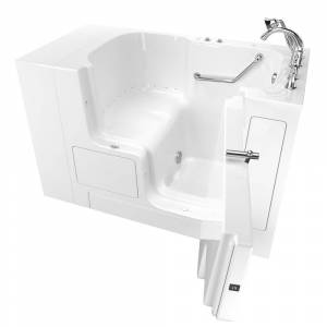 American Standard Gelcoat Value Series 52 in. x 32 in. Right Hand Walk-In Air Bathtub with Outward Opening Door in White