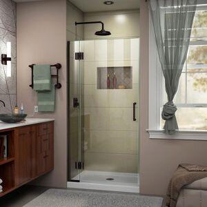 DreamLine Unidoor-X 34 in. x 72 in. Frameless Hinged Shower Door in Oil Rubbed Bronze