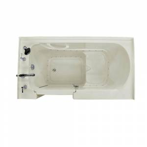Universal Tubs HD Series 32 in. x 60 in. Left Drain Quick Fill Walk-In Soaking Bathtub in Biscuit