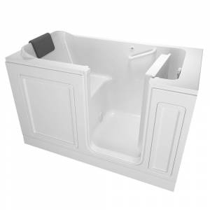 American Standard Acrylic Luxury Series 59.5 in. Right Hand Walk-In Soaking Tub in White