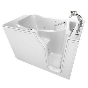 American Standard Gelcoat Value Series 52 in. Righ Walk-In Whirlpool and Air Bath Bathtub in White
